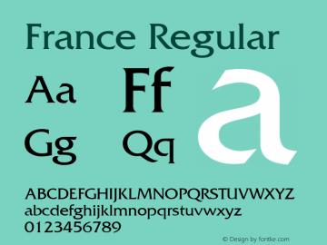 France Regular v1.0c Font Sample