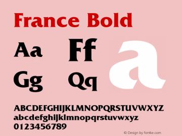 France Bold 001.003 Font Sample