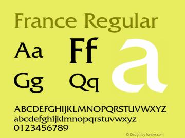 France Regular 001.003 Font Sample
