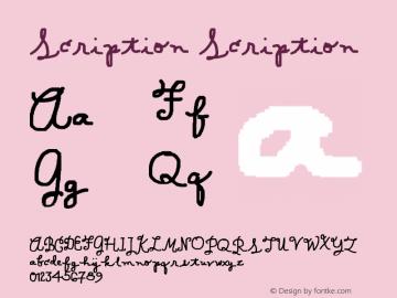 Scription Scription 001.000图片样张