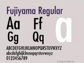 Fujiyama Regular v1.0c Font Sample