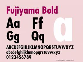 Fujiyama Bold 1.0 Wed Nov 18 01:30:53 1992 Font Sample