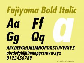 Fujiyama Bold Italic 1.0 Wed Nov 18 01:43:18 1992 Font Sample