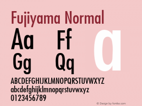 Fujiyama Normal 1.0 Wed Nov 18 01:41:47 1992 Font Sample