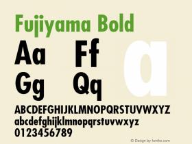 Fujiyama Bold v1.0c Font Sample