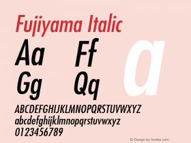 Fujiyama Italic v1.0c Font Sample