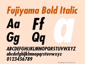 Fujiyama Bold Italic v1.0c Font Sample