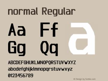 normal Regular Version 1.0 Font Sample