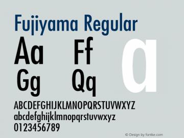 Fujiyama Regular 001.003 Font Sample
