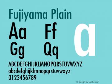 Fujiyama Plain 001.003 Font Sample