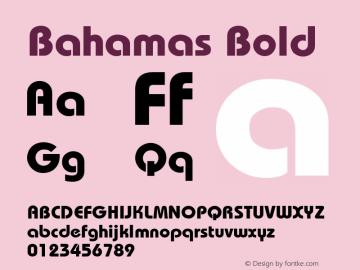 Bahamas Bold v1.0c Font Sample