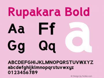 Rupakara Bold Version 1.004 Font Sample