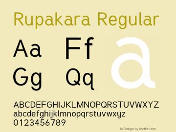 Rupakara Regular Version 1.004 Font Sample