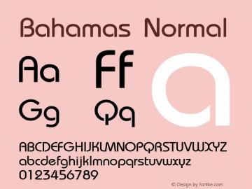 Bahamas Normal 1.0 Sat Dec 05 15:29:09 1992 Font Sample