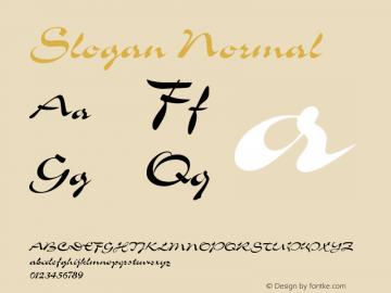 Slogan Normal Version 001.000 Font Sample