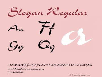 Slogan Regular 1.0 Font Sample