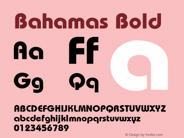 Bahamas Bold 0.0 Font Sample