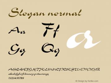 Slogan normal Version 001.003 Font Sample