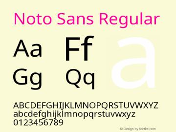Noto Sans Regular Version 1.04 uh Font Sample