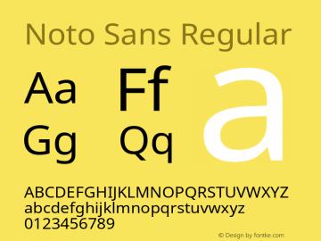 Noto Sans Regular Version 1.05 Font Sample