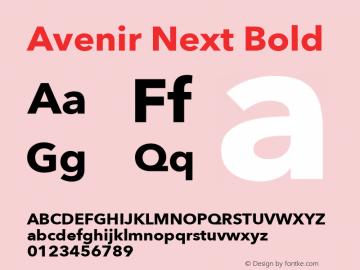 Avenir Next Bold 8.0d5e6 Font Sample