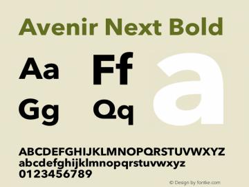 Avenir Next Bold 8.0d5e5 Font Sample