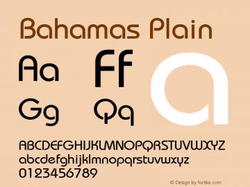 Bahamas Plain 0.0 Font Sample