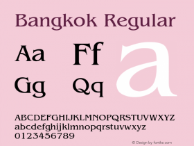 Bangkok Regular v1.0c Font Sample