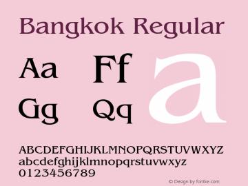 Bangkok Regular v1.0c Font Sample