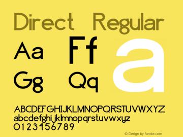 Direct Regular Unknown Font Sample