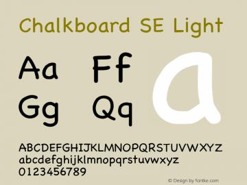 Chalkboard SE Light 8.0d2e1 Font Sample