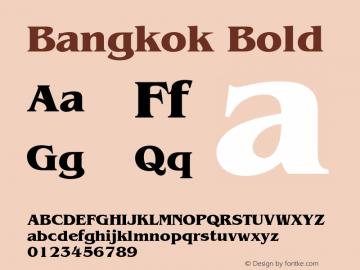 Bangkok Bold 001.003 Font Sample