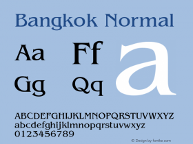 Bangkok Normal 1.0 Tue Nov 17 22:09:47 1992 Font Sample