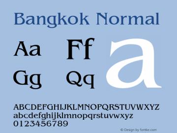 Bangkok Normal 1.0 Tue Nov 17 22:09:47 1992 Font Sample