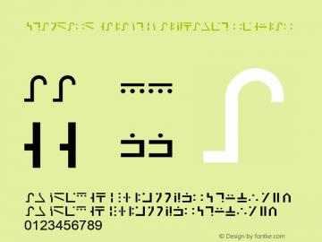 Standard Galactic Alphabet Font Family Standard Galactic Alphabet Uncategorized Typeface Fontke Com