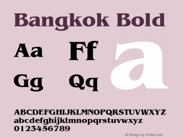 Bangkok Bold v1.0c Font Sample