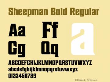 Sheepman Bold Regular Version 1.000 Font Sample