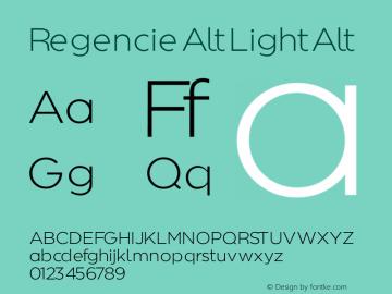 Regencie Alt Font,Regencie Light Alt Font,RegencieLightAlt Font