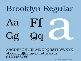 Brooklyn Regular v1.00 Font Sample