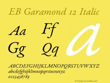 EB Garamond 12 Font,EB Garamond 12 Italic Font,EB Garamond Font
