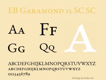 EB Garamond 12 SC Font,EB Garamond 12 Regular SmallCaps Font