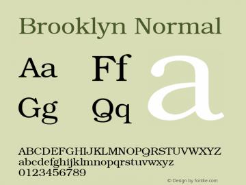 Brooklyn Normal 1.0 Tue Nov 17 22:44:26 1992 Font Sample