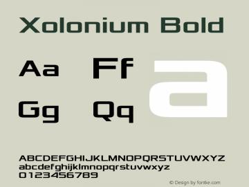 Xolonium Bold Version 2.1图片样张