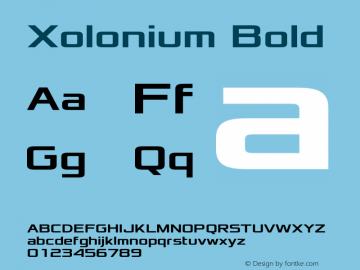 Xolonium Bold Version 2.2图片样张