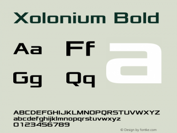 Xolonium Bold Version 2.3图片样张