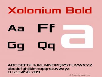 Xolonium Bold Version 2.4图片样张