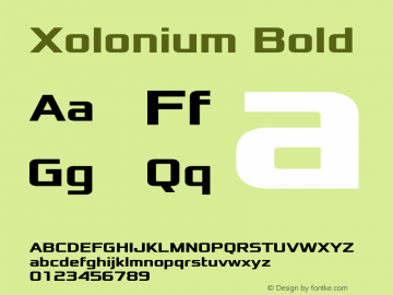 Xolonium Bold Version 3.0图片样张