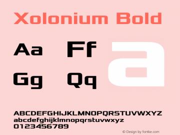 Xolonium Bold Version 3.1图片样张