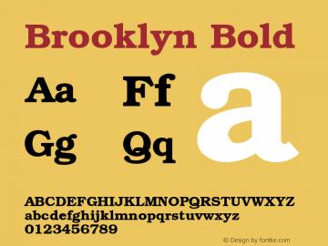 Brooklyn Bold 001.003 Font Sample