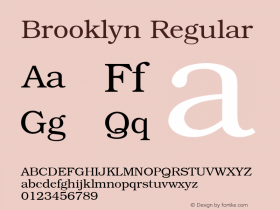 Brooklyn Regular 001.003 Font Sample